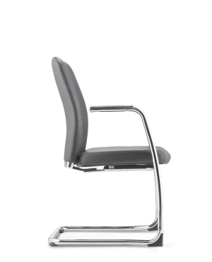 Arona Visitor/Conference Leather Office Chair With Arm