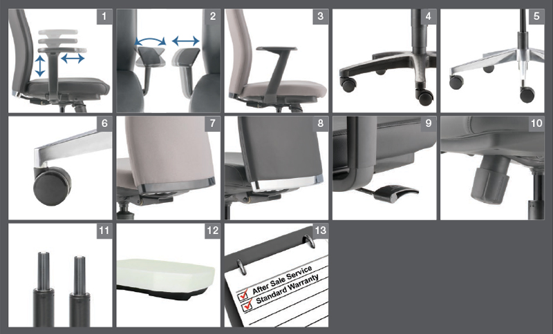 Arona Office Chair Optional Specification