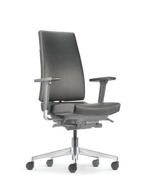 Clover Presidential Medium Back Leather Office Chair