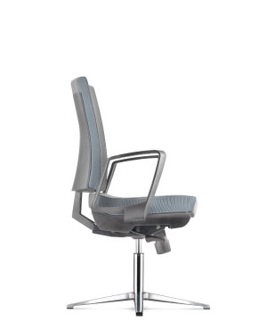 Clover Visitor/Conference Leather Office Chair With Arm Dimension