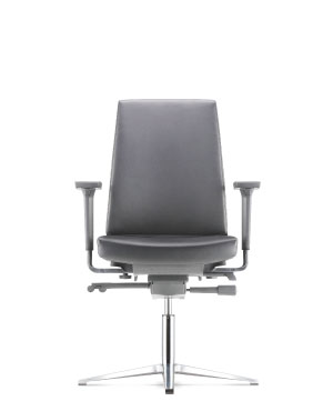 Clover Visitor/Conference Leather Office Chair With Arm