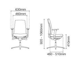 Clover Visitor/Conference Fabric Office Chair With Arm