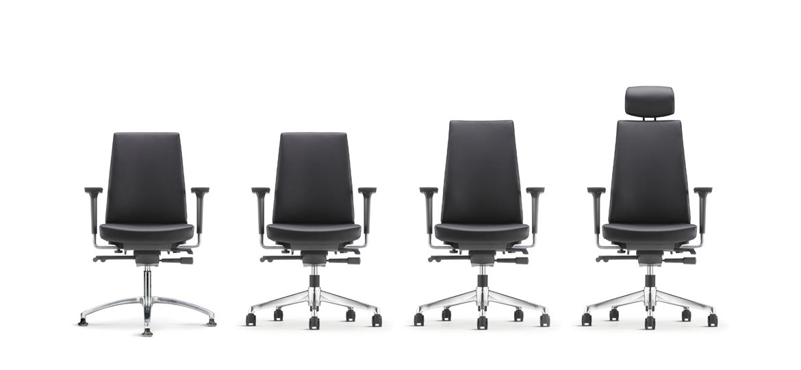 Clover Leather   Fabric Office Chair