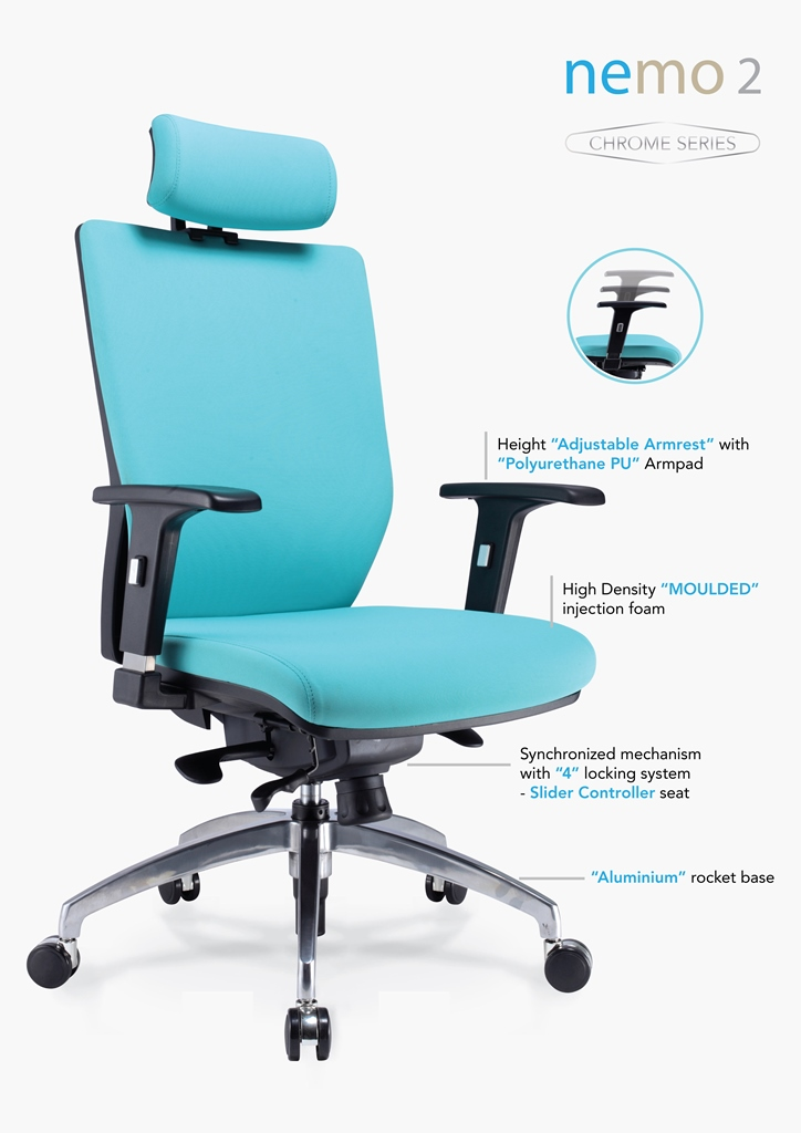 Nemo 2 Chrome Series Office Chair Specification