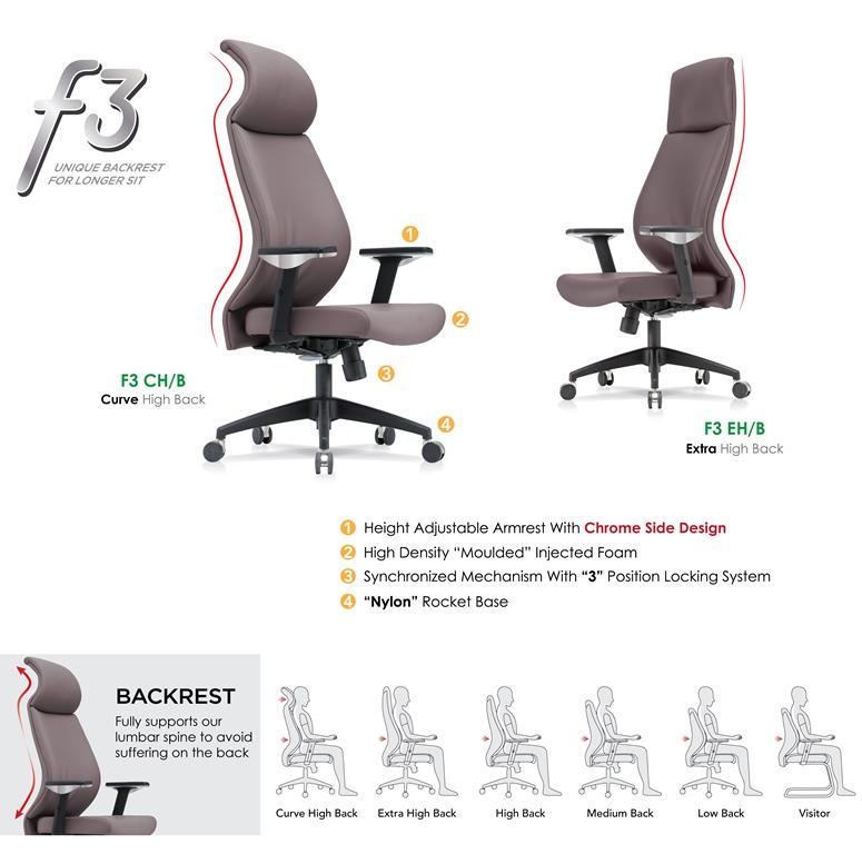 F3 Unique Backrest Office Chair