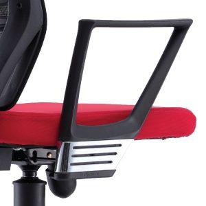 Armrest A - Fixed polypropylene armrest with chrome finishing