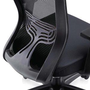 Polypropylene curve shape backrest provides a comfortable sitting position