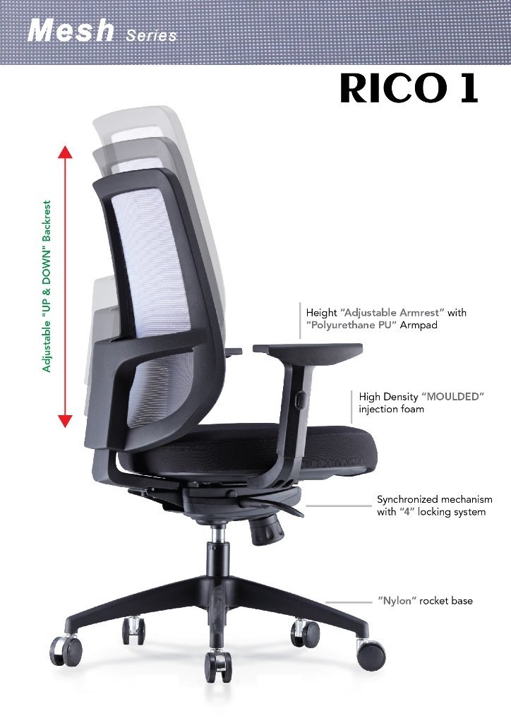 Rico Mesh Series Office Chair Specification