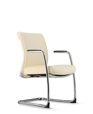 Pegaso Lowres Visitor/Conference Leather Office Chair With Arm