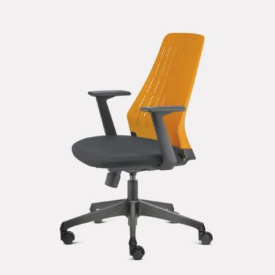Pico Lowres Leather Office Chair - Keno Design