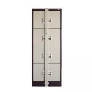 4 Drawer Filing Cabinet with Races Handle c/w Ball Bearing Slide & Locking Bar