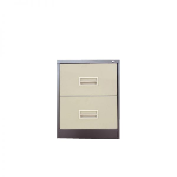 2 Drawer Filing Cabinet with Races Handle c/w Ball Bearing Slide