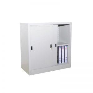 Half Height Cupboard with Steel Sliding Door c/w 1 adjustable shelf
