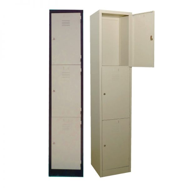 3 Compartments Steel Locker - Office Steel Furniture Supplier