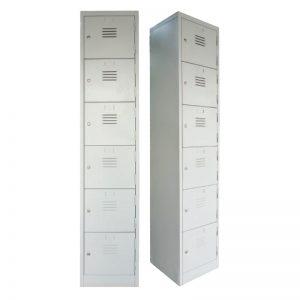 6 Compartments Steel Locker - Office Steel Furniture Supplier