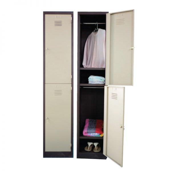 2 Compartments Steel Locker - Office Steel Furniture Supplier