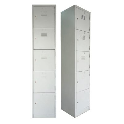 5 Compartments Steel Locker - Office Steel Furniture Supplier