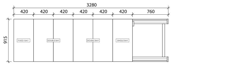 6 x 1 Bay Depth Hand Push Mobile Compactor