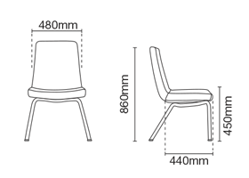 Smarty Visitor/Conference Fabric Office Chair Without Arm Dimension