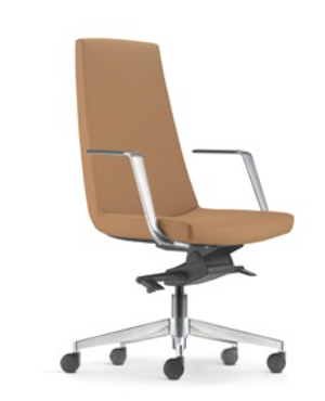 Smarty Leather Presidential Medium Back Office Chair
