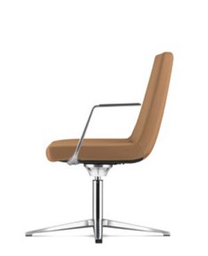 Smarty Visitor / Conference Leather Chair With Arm