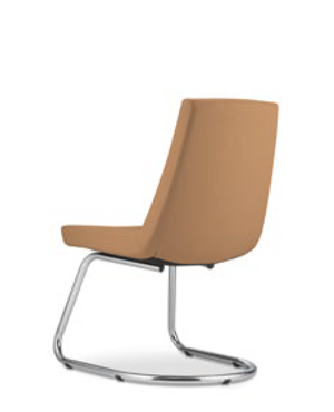 Smarty Visitor / Conference Leather Chair Without Arm