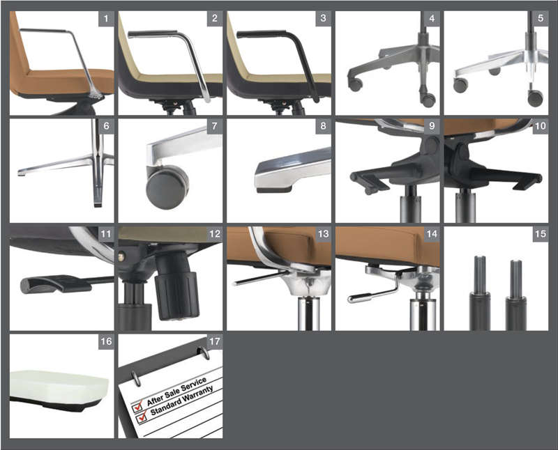 Smarty Office Chair Optional Specification