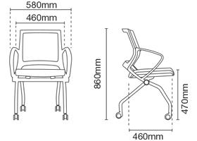 Strand Foldable Chair Dimension