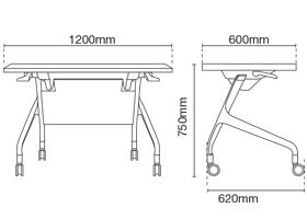 Strand ST9114-FL120 Foldable Table Dimension