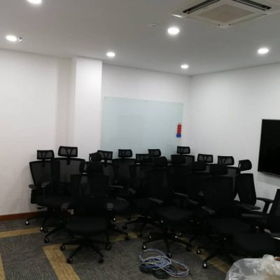 Panasonic TV Office Furniture System - Keno Design Our Client
