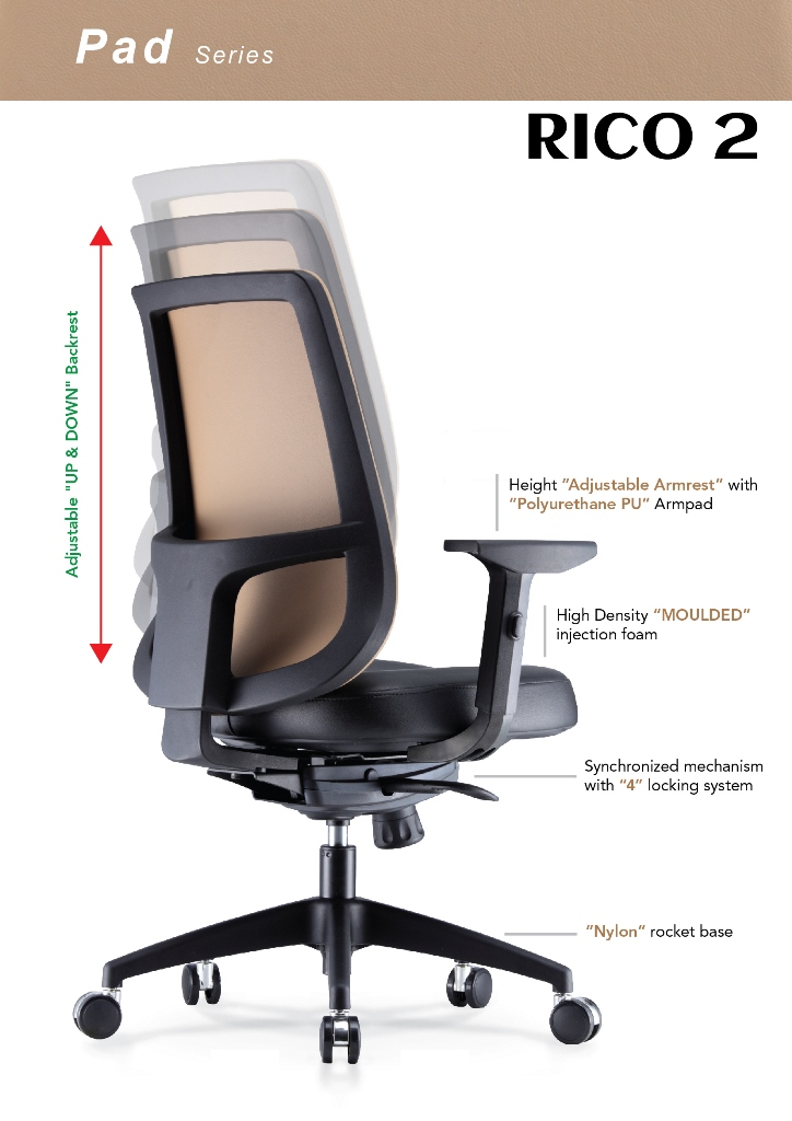 Rico Pad Series Office Chair Specification