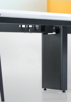 Vertical trunking Cable Risers with 4 opening for wire management solution.
