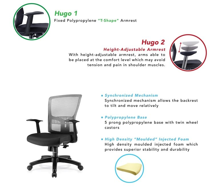 Hugo 1 Office Chair Specification
