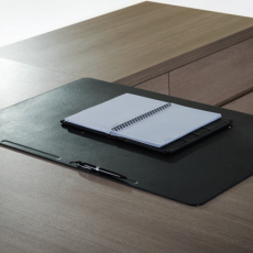 Elegance and convenience writing pad on working desk.