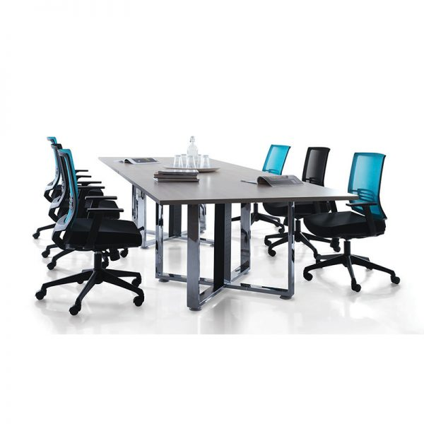 Cassia Chrome Conference Table