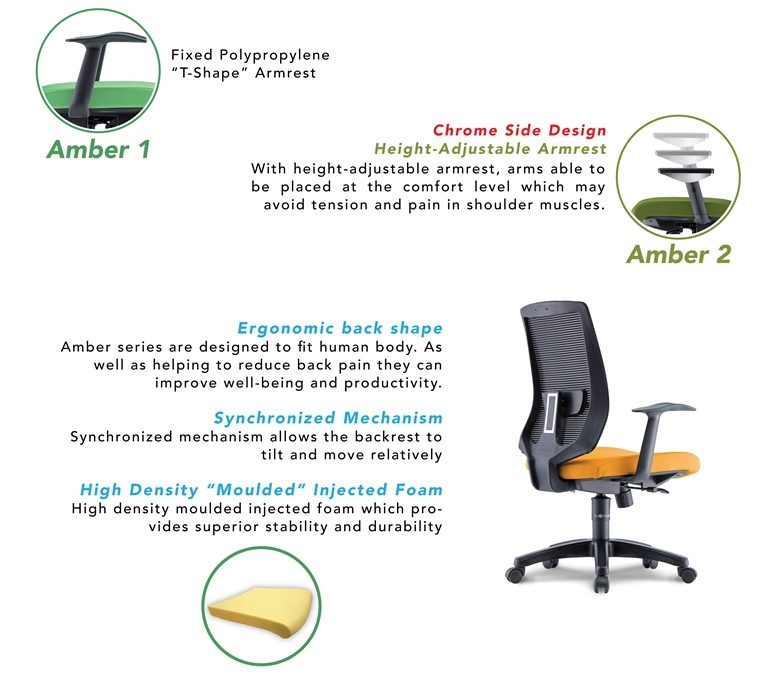 Amber Office Chair Specification