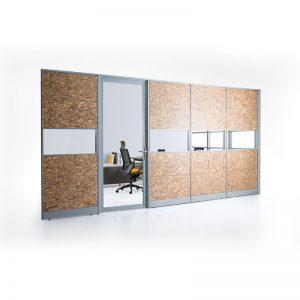80mm Tiles Panel System Office Partition - Keno Design