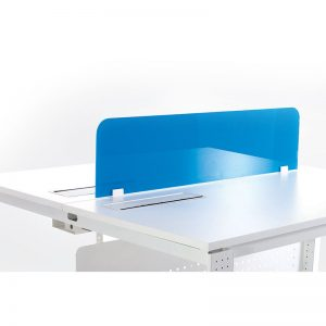 Acrylic panel as desk divider with colour customisation