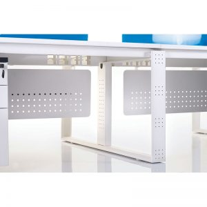 Metal horizontal box to manage cable from floor