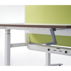 Manual crank for table height adjustment to prefer height