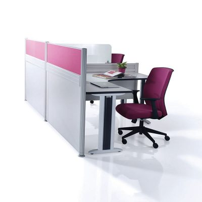 Pole System Office Partition Workstation - Keno Design