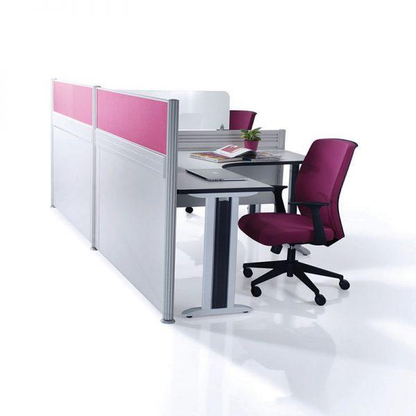 Pole System Office Partition Workstation - Keno Design