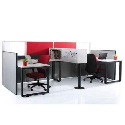 40mm Slim Panel System Office Partition - Keno Design