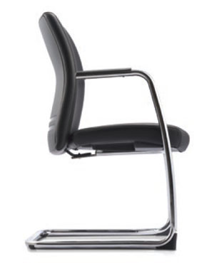 Ergo Visitor/Conference Leather Office Chair With Arm