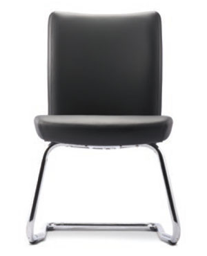 Ergo Visitor/Conference Leather Office Chair Without Arm
