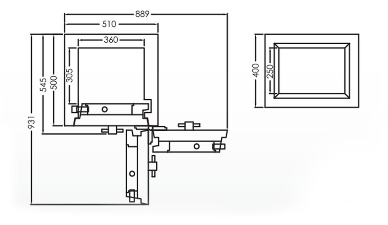 Falcon Eurosafe Series- ES160 Security Safe Box Dimension