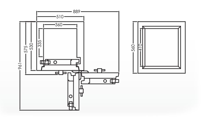 Falcon Eurosafe Series- ES220 Security Safe Box Dimension