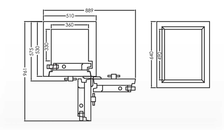 Falcon Eurosafe Series- ES250 Security Safe Box Dimension