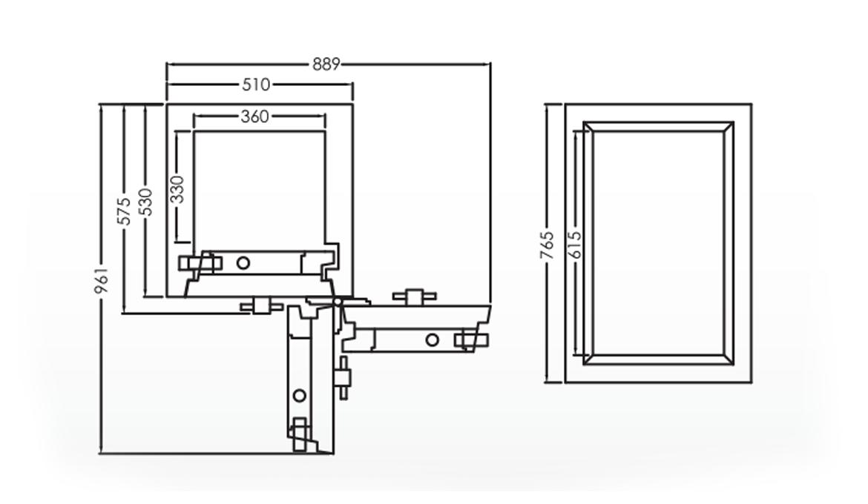 Falcon Eurosafe Series- ES300 Security Safe Box Dimension