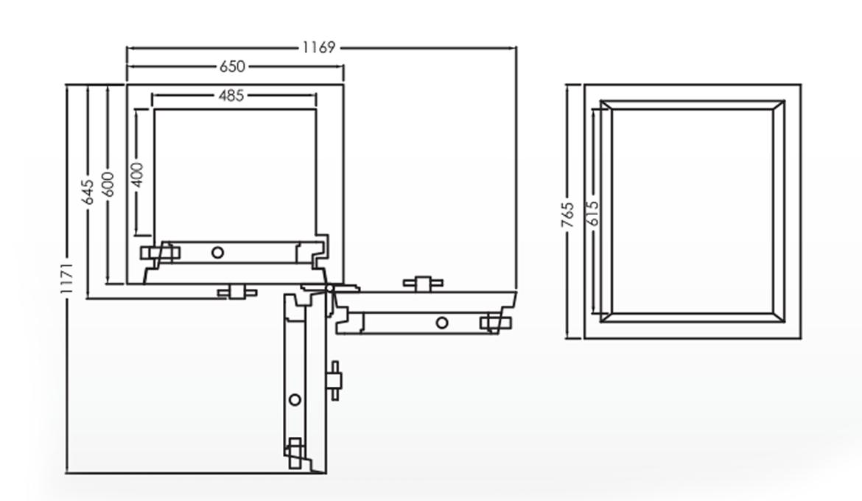 Falcon Eurosafe Series- ES350 Security Safe Box Dimension